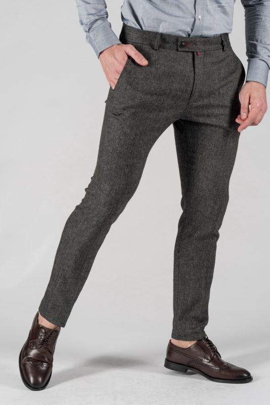 Укороченные мужские брюки серого цвета. Арт.:6-1327-3