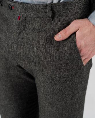 Укороченные мужские брюки серого цвета Арт.:6-1327-3