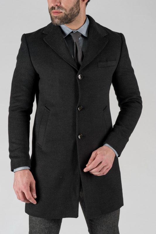 Зимнее пальто темно-серого цвета. Арт.:1-1304-10