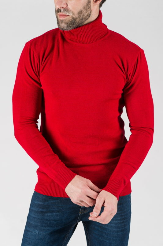 Мужская водолазка красного цвета. Арт.:8-1332
