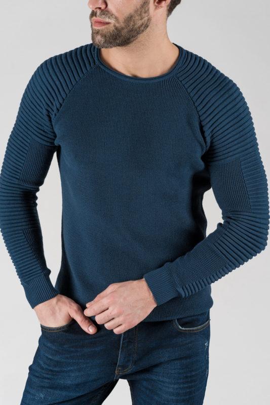 Мужская джемпер синего цвета. Арт.: 8-1333