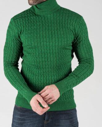 Мужская водолазка зеленого цвета. Арт.: 8-1335