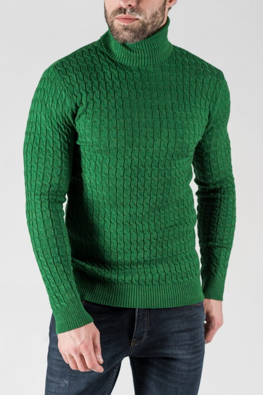 Мужская водолазка зеленого цвета. Арт.:8-1335