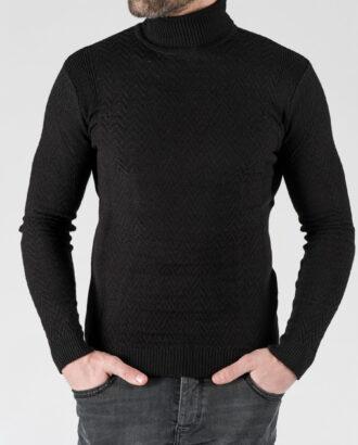 Мужская водолазка черного цвета. Арт.: 8-1336