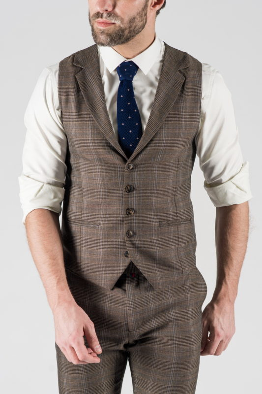 Мужской костюм-двойка коричневого цвета. Арт.:4-1342-10