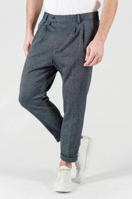 Стильные мужские брюки в мелкую клетку. Арт.:6-1343-3