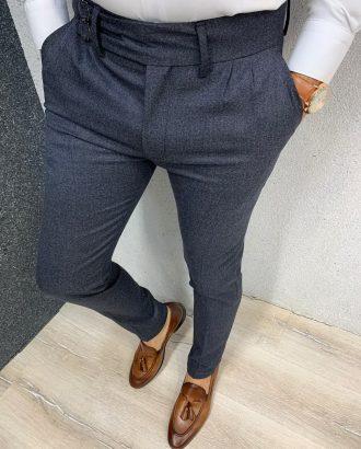 Мужские брюки-чинос синего цвета. Арт.:6-1323-2