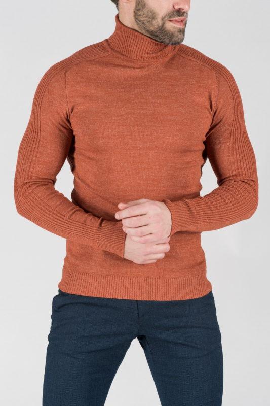 Мужская водолазка терракотового цвета. Арт.:8-1321