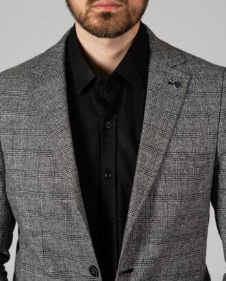 Клетчатый пиджак серого цвета. Арт.: 2-1405-2