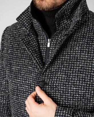 Мужское пальто в гусиную лапку. Арт.:1-1402-2