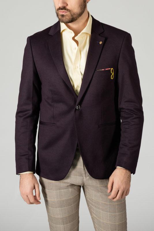 Кэжуал пиджак фиолетового цвета. Арт.:2-1408-2
