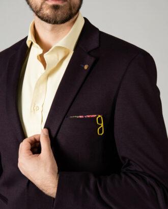 Кэжуал пиджак фиолетового цвета. Арт.: 2-1408-2