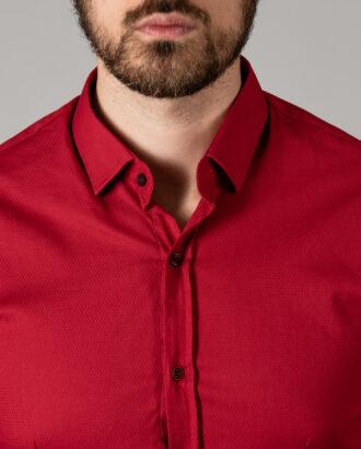Мужская красная рубашка. Арт.: 5-1446-8