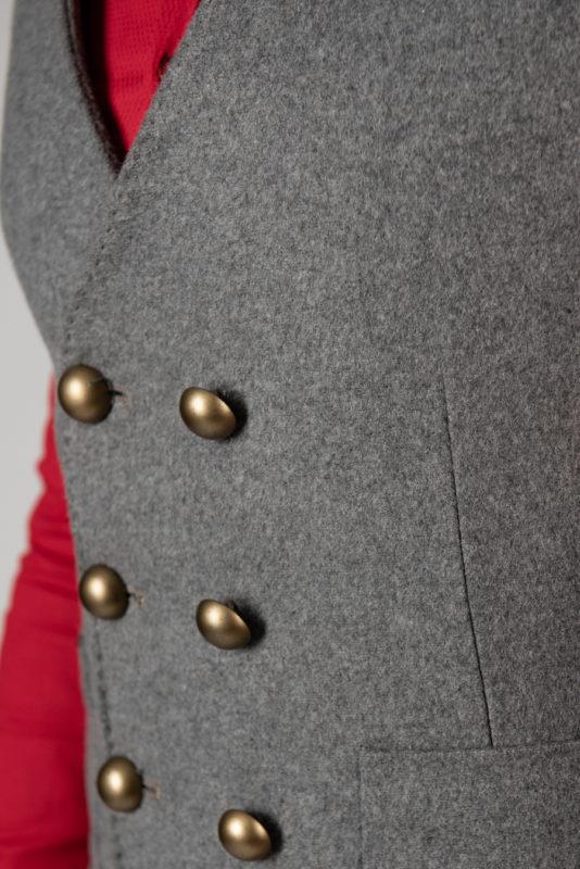 Шерстяная жилетка серого цвета. Арт.:3-1425-3