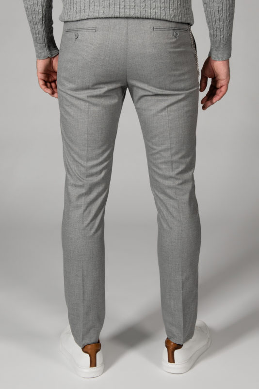 Светло-серые стильные брюки. Арт.:6-1435-3