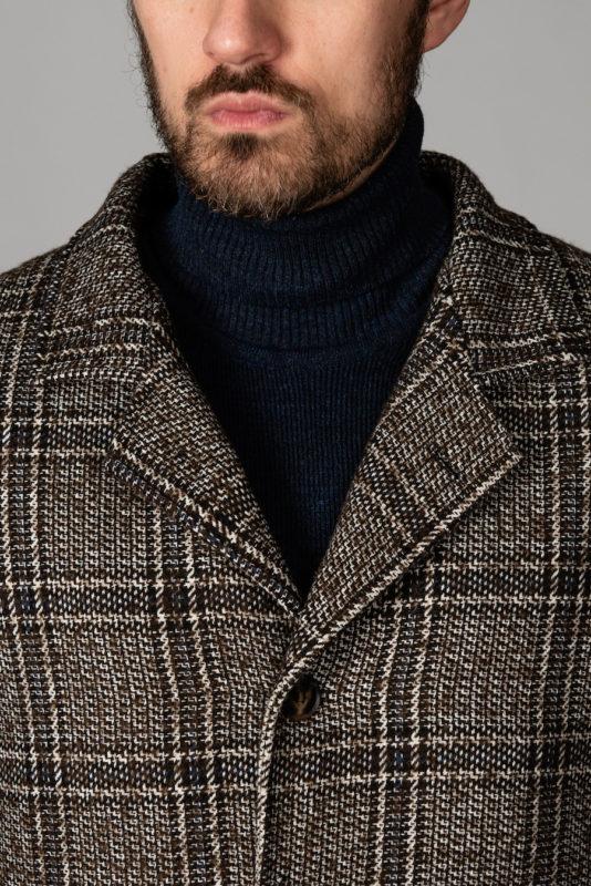 Стильное пальто коричневого цвета. Арт.:1-1401-2