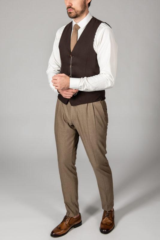 Классический мужской жилет коричневого цвета. Арт.:3-1424-5