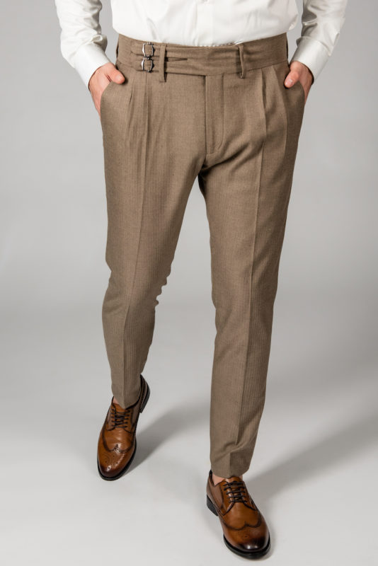 Мужские брюки с защипами. Арт.:6-1434-3