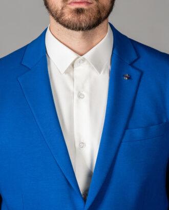 Кэжуал пиджак ярко-синего цвета. Арт.: 2-1411-2