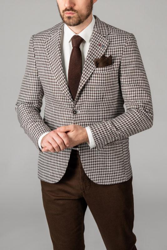 Мужской пиджак в ломанную клетку. Арт.:2-1407-5