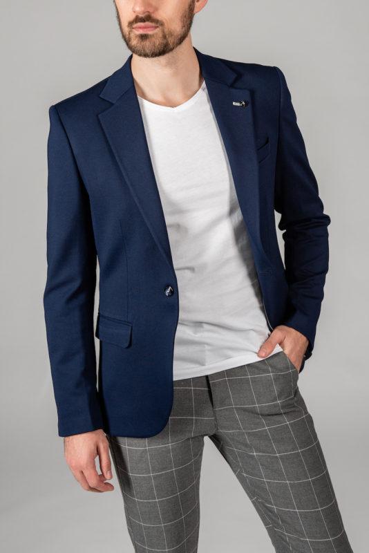 Приталенный пиджак темно-синего цвета. Арт.:2-1412-5