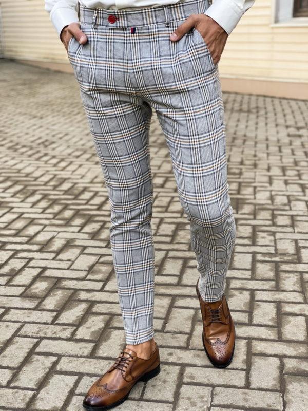 Стильные брюки в крупную клетку. Арт.:6-1463-3