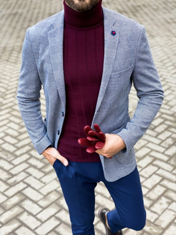 Мужской пиджак стиле кэжуал. Арт.:2-1455-2
