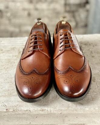 Мужские броги светло-коричневого цвета. Арт.:14-1452