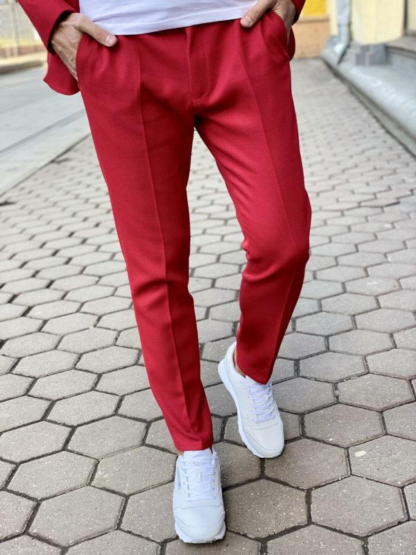 Красный мужской костюм-двойка. Арт.:4-1510-3