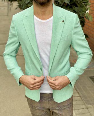 Зеленый мужской пиджак. Арт.:2-1525-5