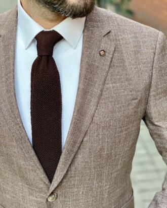 Мужской пиджак коричневого цвета. Арт.:2-1530-8