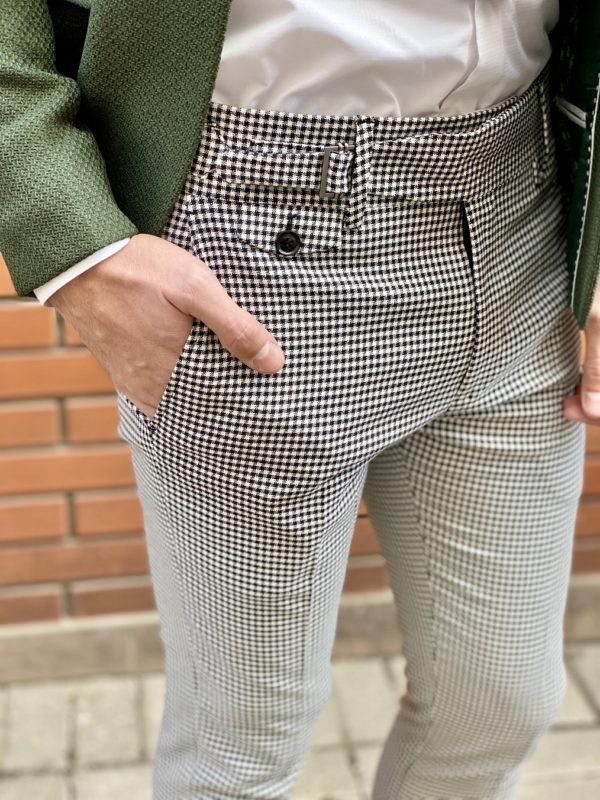 Серые укороченные брюки. Арт.:6-1516-3