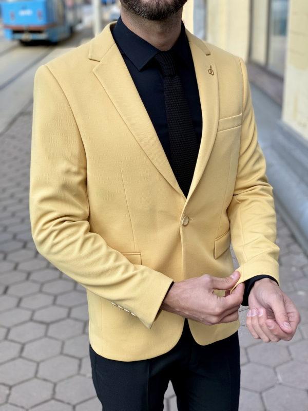 Стильный мужской пиджак желтого цвета. Арт.:2-1513-2