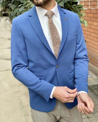 Приталенный пиджак синего цвета. Арт.:2-1521-2