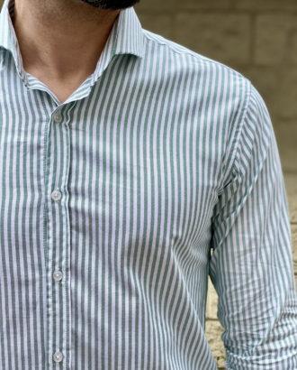 Мужская рубашка в полоску супер слим. Арт.:5-1609-8