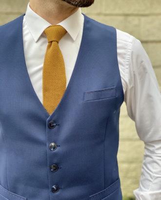 Классический жилет синего цвета. Арт.:3-1620-10