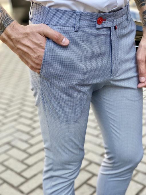Серые брюки в мелкую клетку. Арт.:6-1647-3