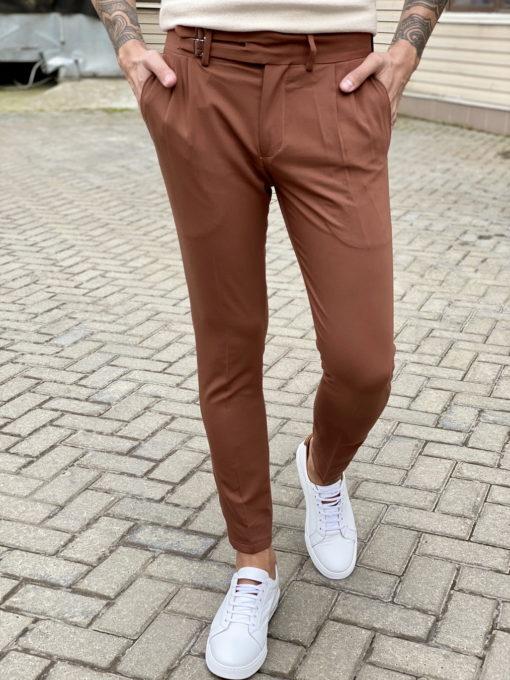 Стильные брюки терракотового цвета. Арт.:6-1660-3