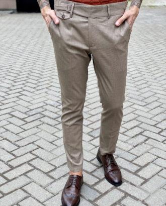 Стильные брюки с ремешками. Арт.:6-1663-3