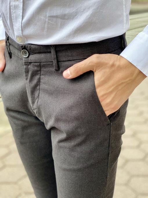Черные мужские брюки чинос. Арт.:6-1668-2