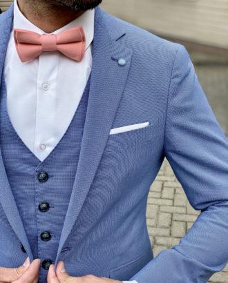 Костюм-тройка голубого цвета. Арт.:4-1655-3