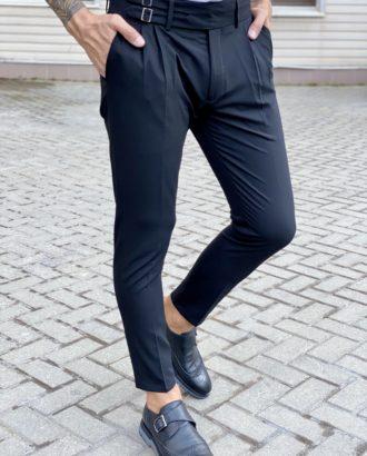 Стильные брюки черного цвета. Арт.:6-1709-3