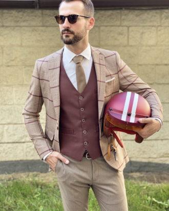 Стильный мужской костюм-тройка. Арт.:4-1721-3