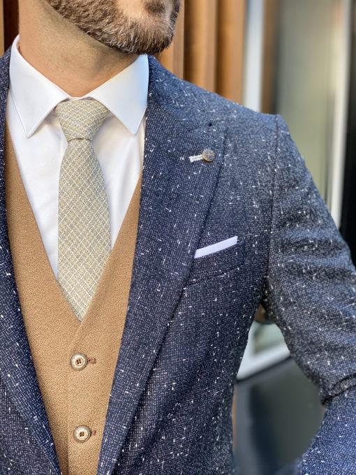 Серый мужской пиджак кэжуал. Арт.:2-1732-5