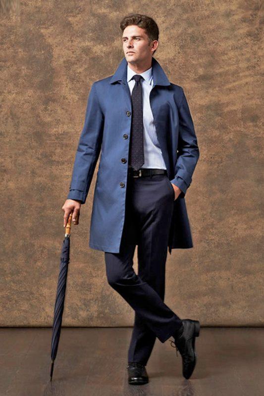 С чем носить мужское пальто
