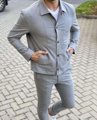 Мужская куртка с отложным воротником. Арт.:15-1706
