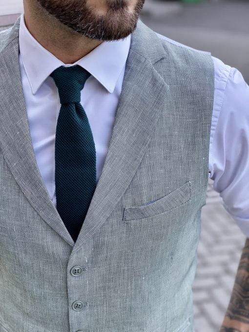 Зеленый мужской жилет. Арт.:3-1741-3