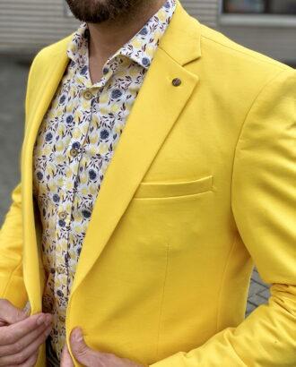 Желтый мужской пиджак. Арт.:2-1808-2