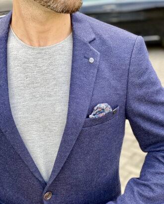 Мужской синий пиджак. Арт.:2-1817-2