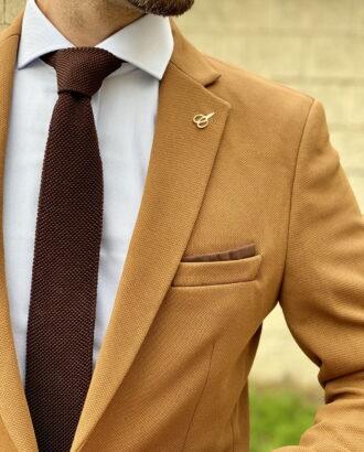 Мужской пиджак горчичного цвета. Арт.:2-1815-2